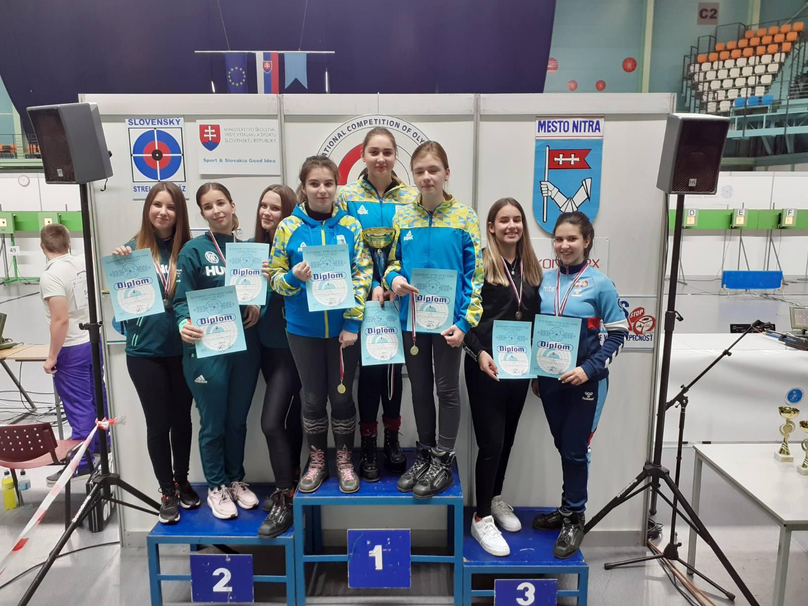 Juniorke puška, ekipno, reprezentacija Beograda na trećem mestu