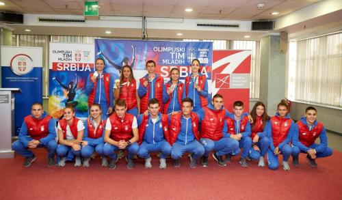 Učesnici OI mladih Foto: Olimpijski komitet Srbije