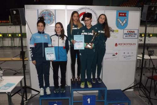 Juniorke, ekipno: Srbija 1 srebro
